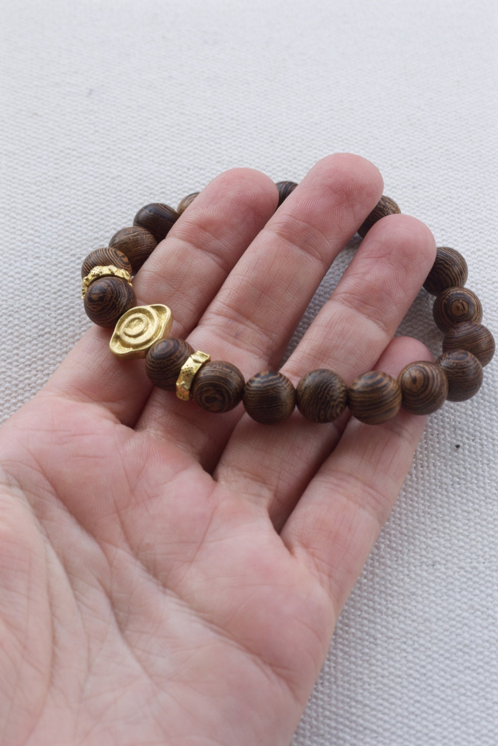with gift rugged wood leather men pin masculine bracelet s brown jasper