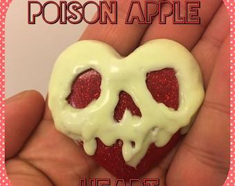 Glow in the dark Poisoned Apple heart