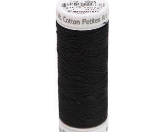 Sulky 12 wt - BLACK EMBROIDERY THREAD - Cotton - Small Spool