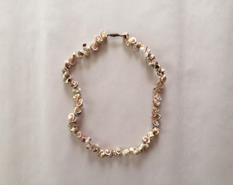 1950s schells choker necklace || sea shells necklace