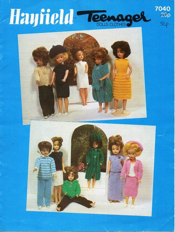 Teenage Doll Clothes Knitting Pattern Pdf Fashion Doll Outfits