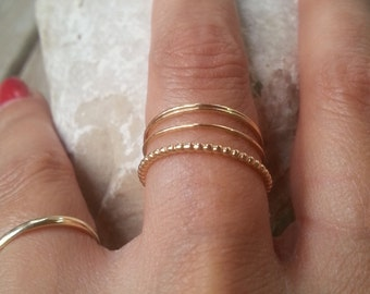 Thin Stackable Rings, Gold Stacking Rings, Stack Rings, Stacking Rings, Simple Gold Ring, Super Thin Gold Ring, Gold Ring, Tiny Gold Ring
