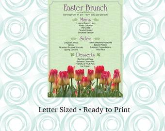 Elegant Easter Brunch Restaurant Menu