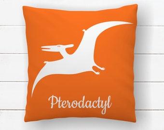 Dinosaur Pillow - Pterodactyl, Dinosaur Nursery Throw Pillow Covers, Little Boys Room Decor, Kids Dinosaur Bedroom Decor, Cushion Cover