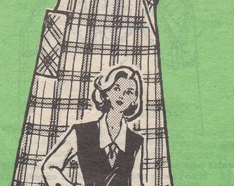 Bust 38-FACTORY FOLDED 1960's Misses' Jumper and Blouse MO 4880 Sz 16