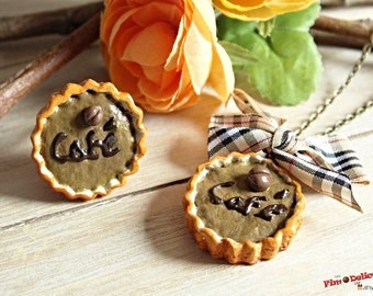 Necklace and tart ring espresso coffee set