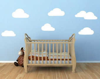 Clouds Wall Decals - Clouds Decal - Cloud Stickers - Child's Room Clouds - Baby's Room Clouds