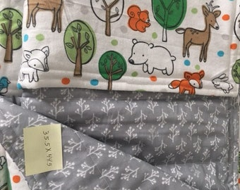 Woodland Forest Animals Cotton Baby Blanket