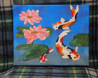 Original Painting- Koi