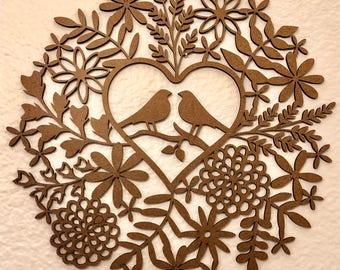Dove Wreath - Laser Cut