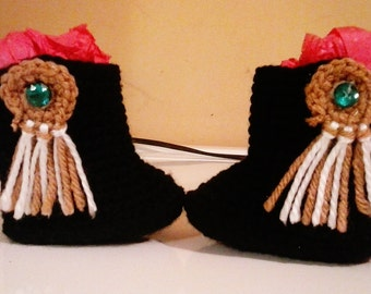 Crochet Cowgirl Style Booties