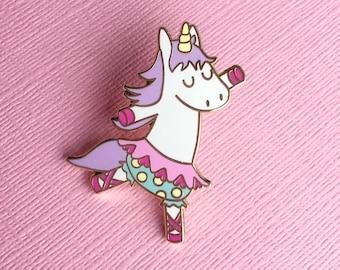 Dancing Unicorn Enamel Pin - Kawaii pin - Cute brooch - Unicorn lapel pin - Unicorn gift - pin collector