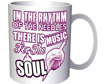 Rhythm of the Needles Soul Music 11oz Mug aa181