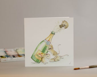 Its a Prosecco Party! .. for mice. Birthday Party. Lets celebrate. Grab a bottle