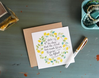 Bible Cards- Bible Verse Cards- Scripture Cards- Memory Verse Cards- Watercolor Cards- Folded Cards