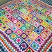 New Daisy Blanket Granny Squares Crochet Afghan Sofa Throw