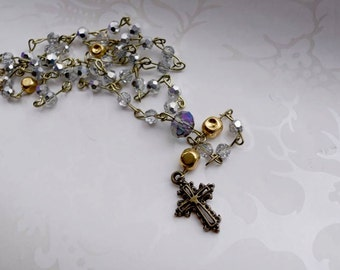 Bronze and Gold Iridescent Rosary