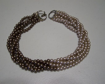 CLEARANCE Multistrand Torsade Chocolate Cocoa Bead Necklace