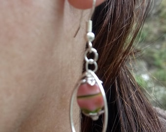 Shuttle candy earrings