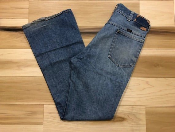 1970s Jeans Big Yank Bootcut Denim Single Stitch Talon Zipper Made in USA 100% Cotton