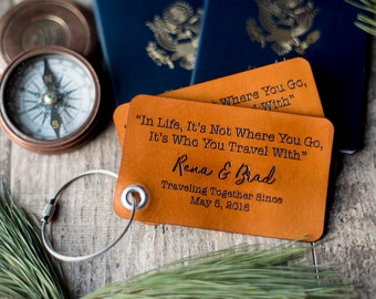 Personalized Custom Leather Luggage Tag | Rectangular, In Life