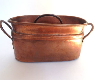 Large Antique French Copper Daubiere or Stew Pot NEW LOWER PRICE