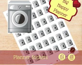Washer Stickers|Chore Stickers|Single Sheet Stickers|Big Happy Planner Stickers|Happy Planner Stickers|Create365|MAMBI