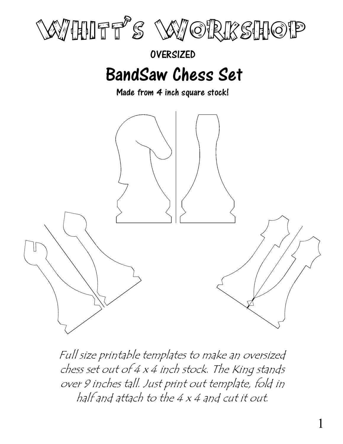 Over sized band saw chess set wood plans pdf file this is a digital file malvernweather