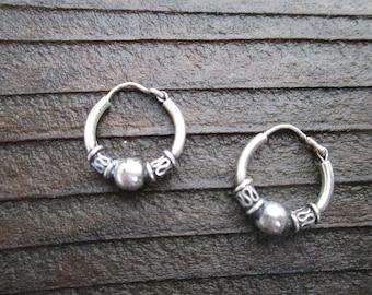 Dainty Little Sterling Hoop Earrings