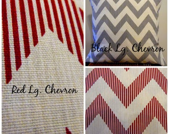 VALENTINES DAY Black.Red.Chevron Pillow Covers.Slip Covers.Lg.Chevron.Home Decor Pillow Cover.Creams.whites. 2 Color Choices.Toss Pillow