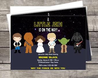 Beautiful Star Wars Baby Shower Invitation ...