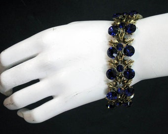 Grecian Goddess - Antique Gold Purple Velvet Bracelet 1956B