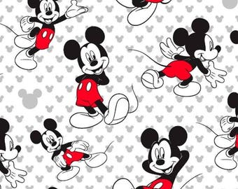 Mickey Mouse Totally Mickey Toss Cotton Fabric by the yard and by the half yard