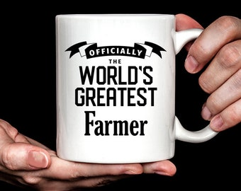 Farmer Gift   Farmer Mug   Gift for Farmer   World's Greatest Farmer Coffee Mug