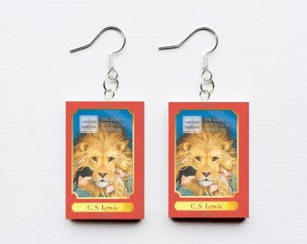 Chronicles of Narnia mini book earrings