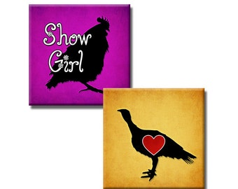 Show Animals set2 - 1 inch squares - Digital collage sheet