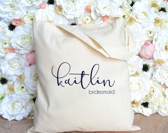 Bridesmaid Gift - Bridesmaid Tote - First Name Tote - Personalized Bridesmaid Tote