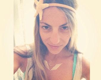 Starfish headband, ocean, Beach wedding, tropical wedding, bridal, starfish clip, starfish hair clip, fish, mermaid