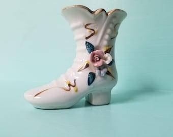 Victorian Boot Vase