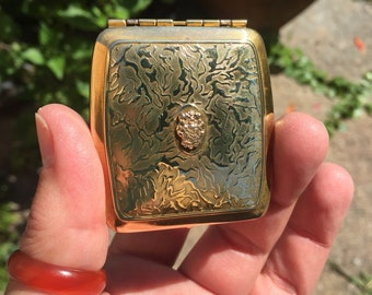 Antique gold filled Art Deco Make up Compact collectible vintage compact