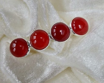 Carnelian REAL Gemstone Hairclip Barrette Handmade
