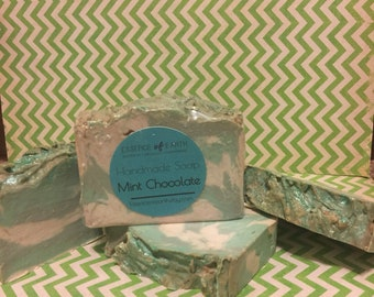Mint chocolate soap. Handmade soap. Proceeds donated.