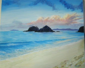 original artwork Oil Seascape 20 x 24 inches stretched canvas Gallery wrapped