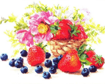 Cross Stitch Kit Flowers / Bouquet/ Fruits/Cuisine