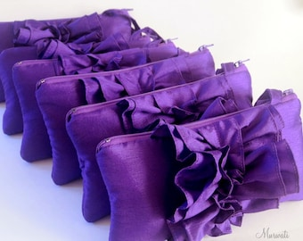 A set of 6 Custom Bridesmaids Clutches- Gift Idea for Bridesmaids- More Colors Available