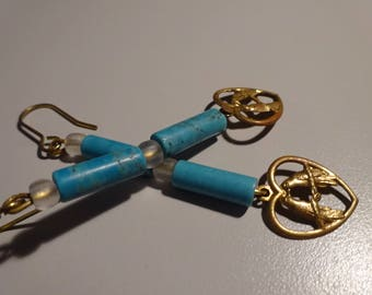 Gold Lovebird Earrings