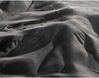 East Bay Hills at Daybreak, An Aerial View: A Black and White Photograph 12x15