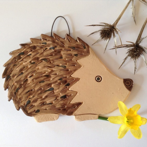 Handmade Ceramic Hanging Hedgehog