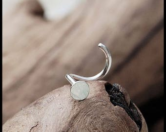 Silver Spot in 3mm Nose Stud / Dainty Nose Stud / Rock Your Nose / Silver Nose Ring- CUSTOMIZE