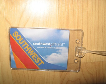 Southwest Airlines Luggage Tag - Boeing 737 WN LUV Playing Card Suitcase Tag